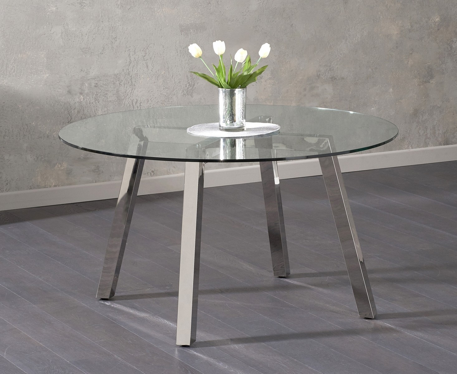 Mark Harris Remy Glass Dining Table - Round