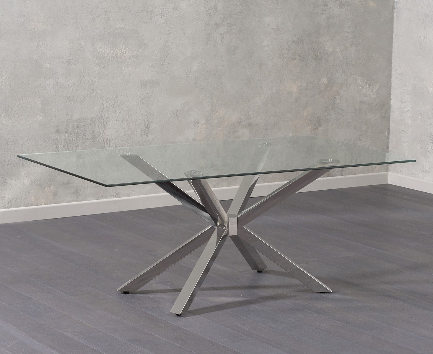Mark Harris Renato Glass Dining Table - 200cm Rectangular
