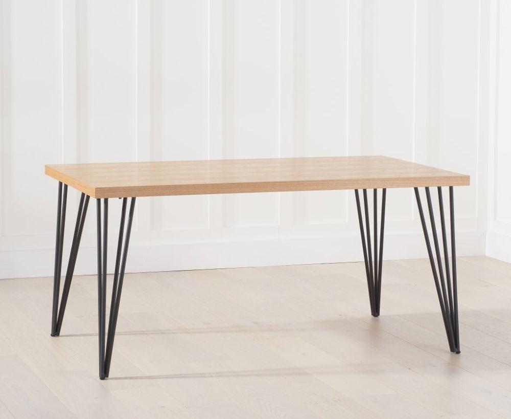 Mark Harris Retiro Dining Table - Ash Wood and Metal