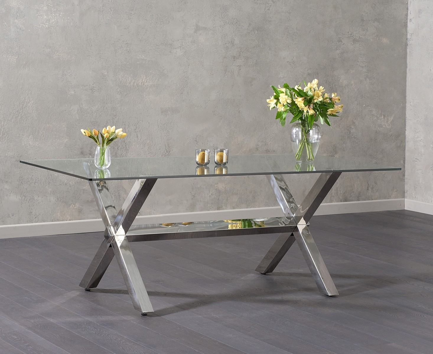 Mark Harris Ricardo Glass Rectangular Dining Table - 200cm