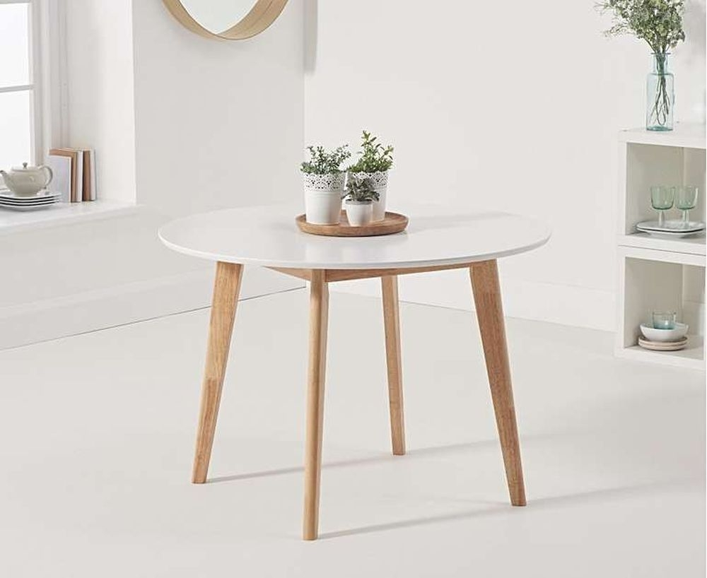 Mark Harris Robina Round Dining Table - Oak and White