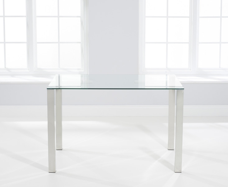 Mark Harris Sara Dining Table - Glass and Chrome