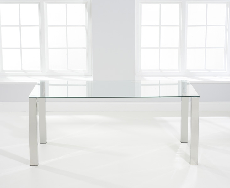 Mark Harris Sara Large Dining Table - Glass and Chrome