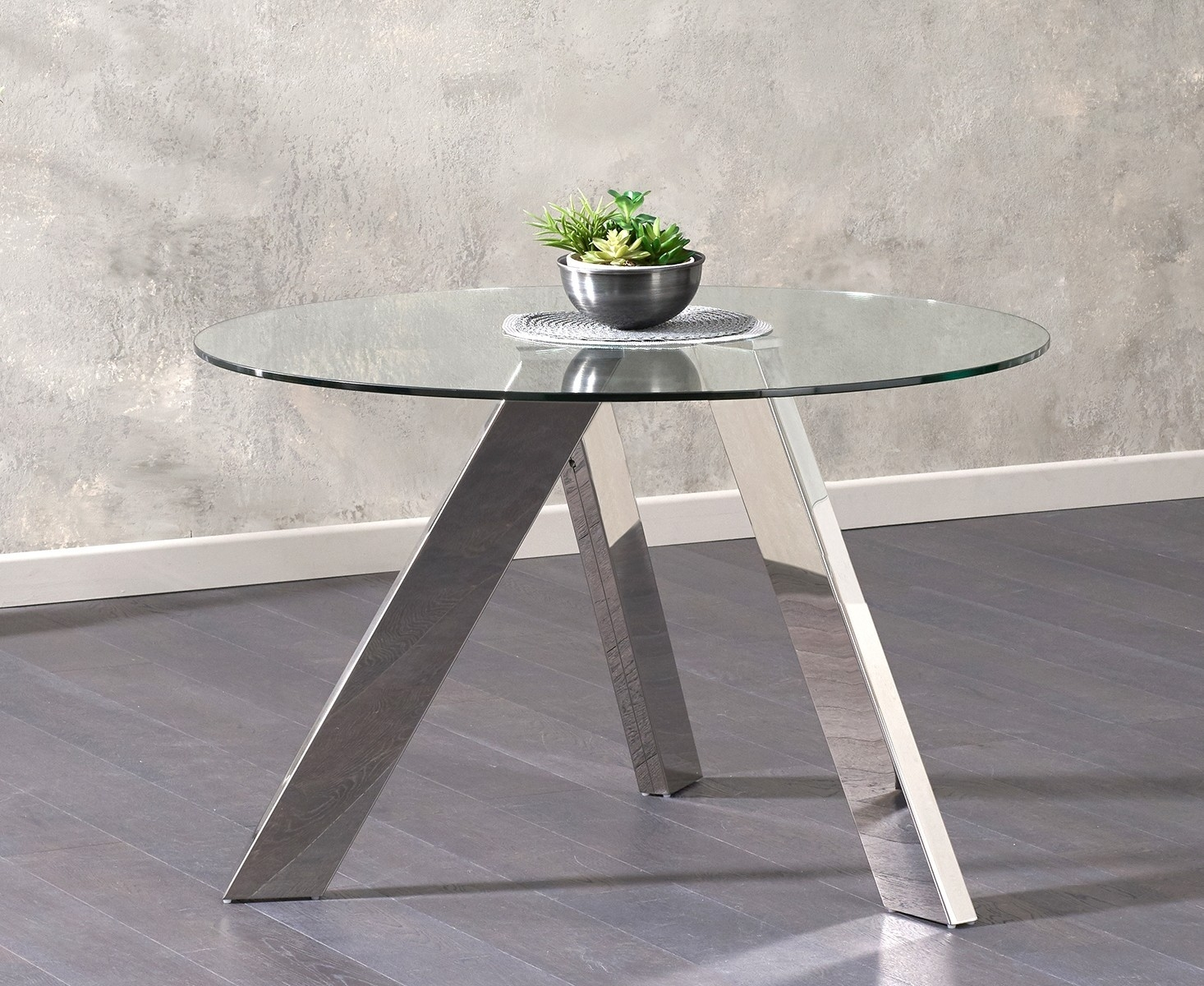 Mark Harris Tamzin Glass Dining Table - 120cm Round