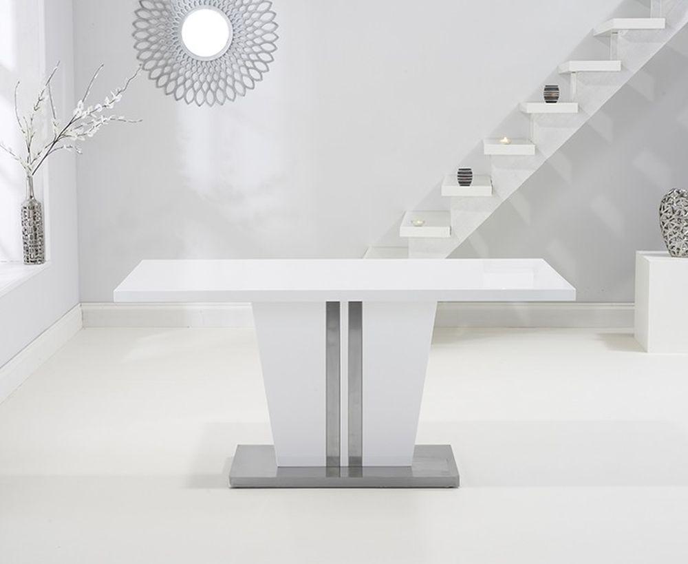 Mark Harris Vigo White High Gloss Dining Table