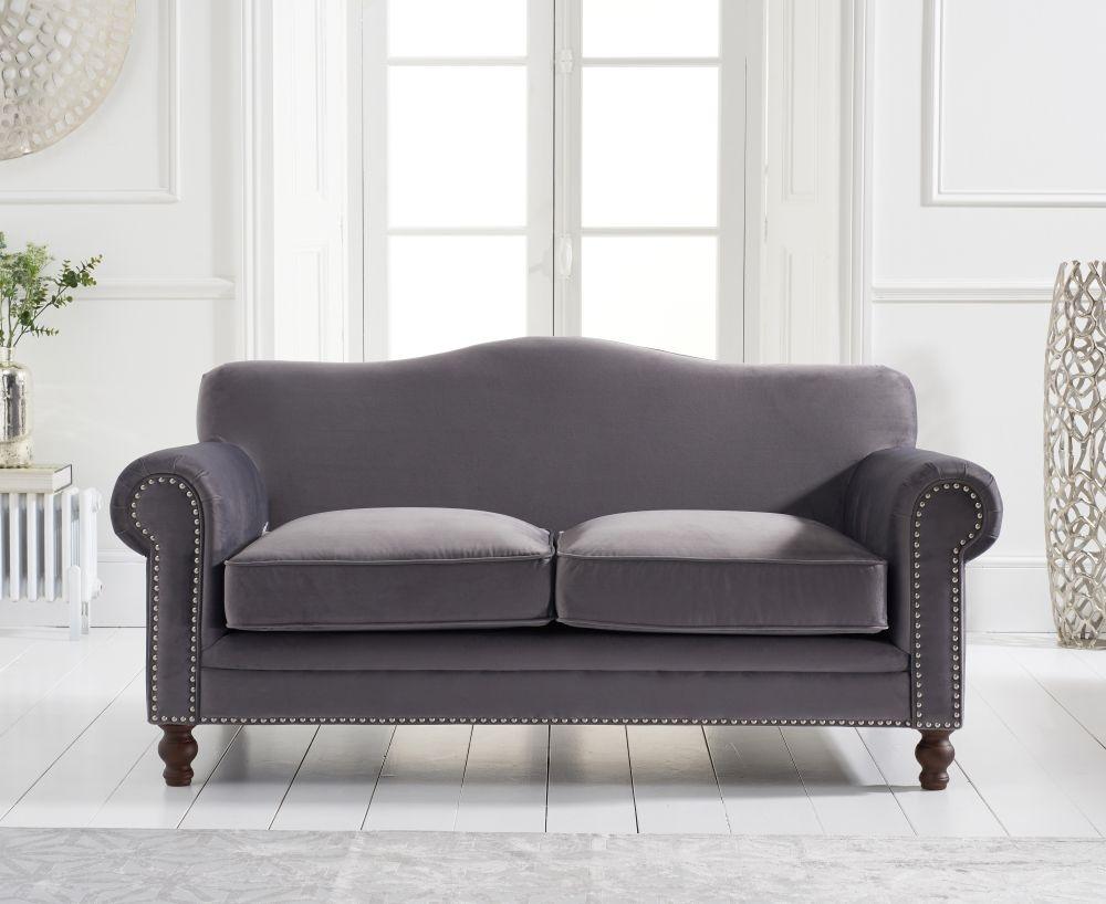 Mark Harris Ellie Grey Velvet 2 Seater Sofa