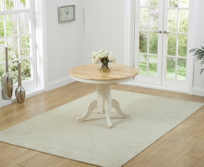 Mark Harris Elstree Butterfly Extending Dining Table - Oak and Cream