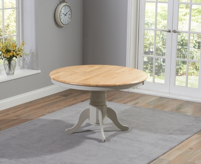 Mark Harris Elstree Round Dining Table - Oak and Grey