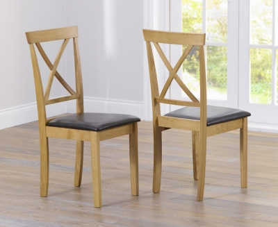 Mark Harris Elstree Solid Oak Dining Chair (Pair)