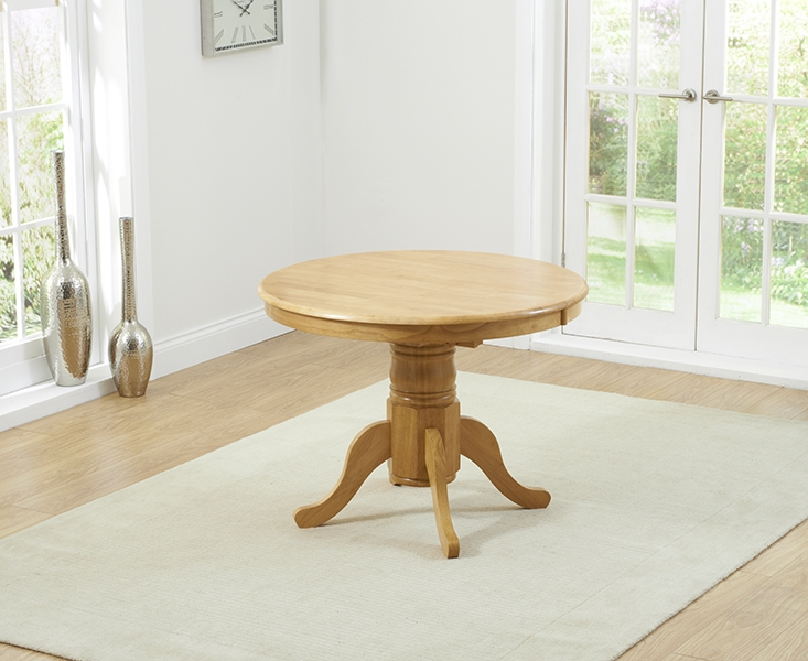 Mark Harris Elstree Solid Oak Dining Table - 100cm Oval Extending