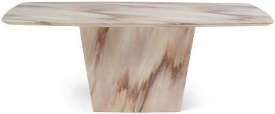Mark Harris Fariah Brown Engineered Marble Dining Table