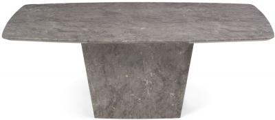Mark Harris Fariah Light Grey Engineered Marble Dining Table