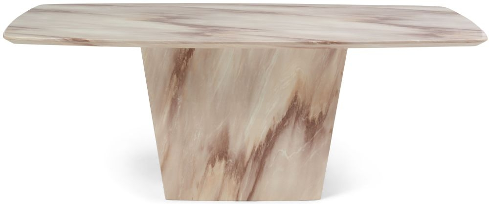 Mark Harris Fariah Brown Marble Dining Table