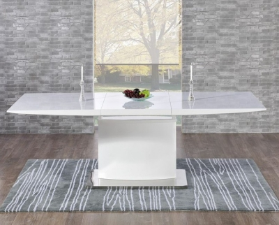 Mark Harris Hayden White High Gloss Extending Dining Table