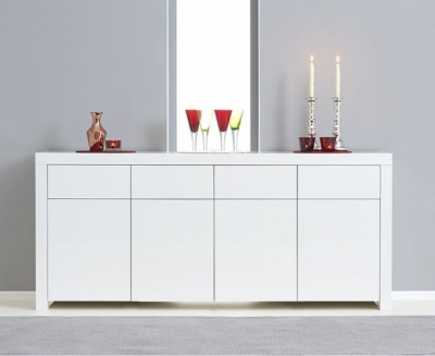 Mark Harris Hereford White High Gloss Extra Large Sideboard
