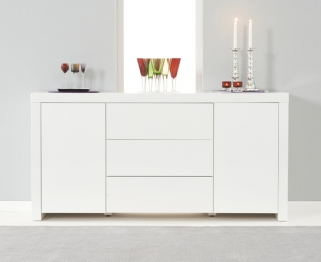 Mark Harris Hereford White High Gloss Sideboard 2 Doors 3 Drawers