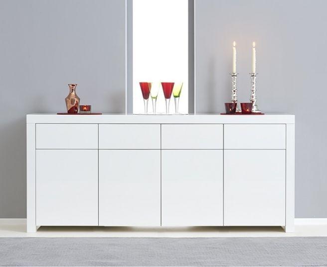 Mark Harris Hereford White High Gloss Extra Large Sideboard