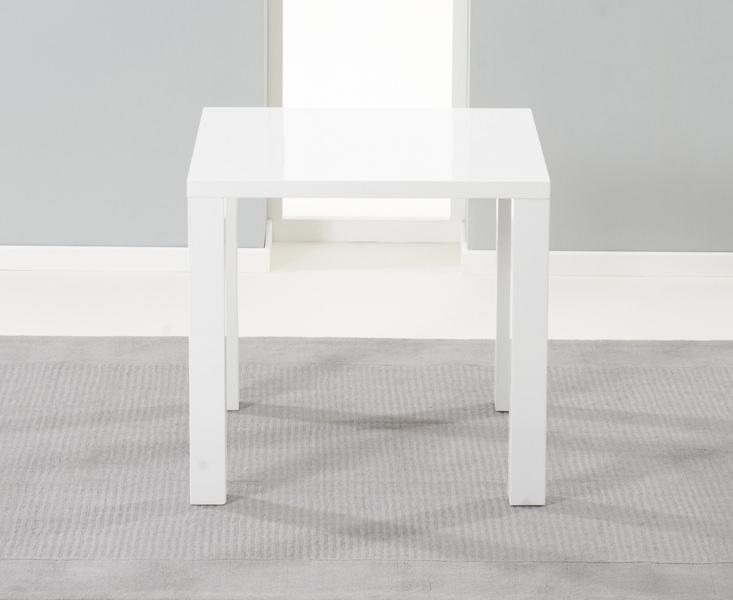 Mark Harris Hereford White High Gloss 80cm Dining Table