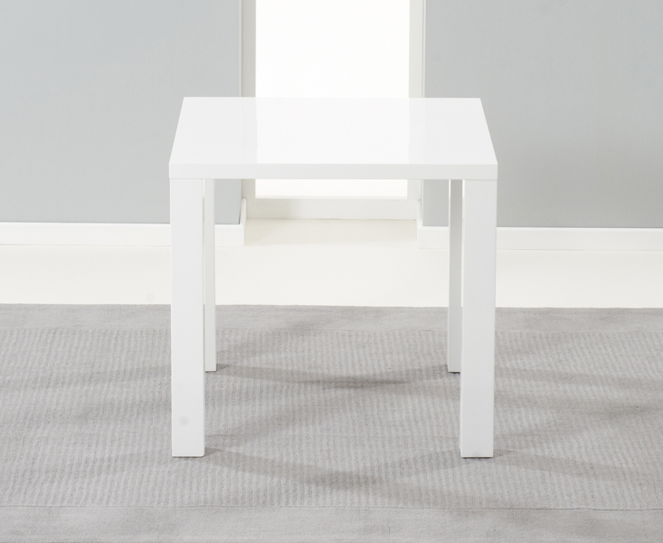 Mark Harris Hereford White High Gloss Dining Table - 80cm Square