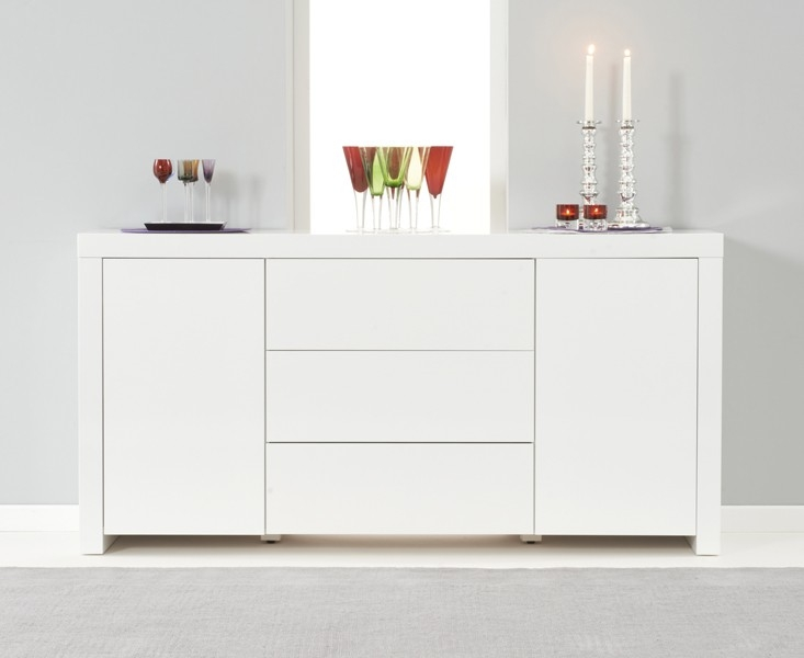 Mark Harris Hereford White High Gloss Large Sideboard