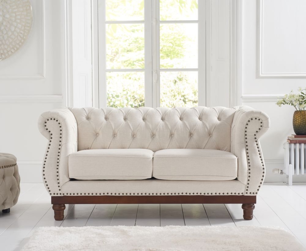 Mark Harris Highgrove Ivory Linen Fabric 2 Seater Sofa