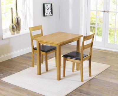 Mark Harris Hove Solid Oak 60cm Extending Dining Set with 2 Chairs