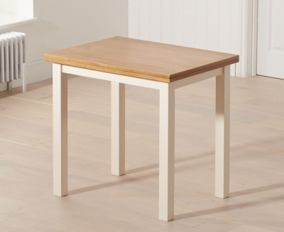 Mark Harris Hove Extending Dining Table - Oak and Cream