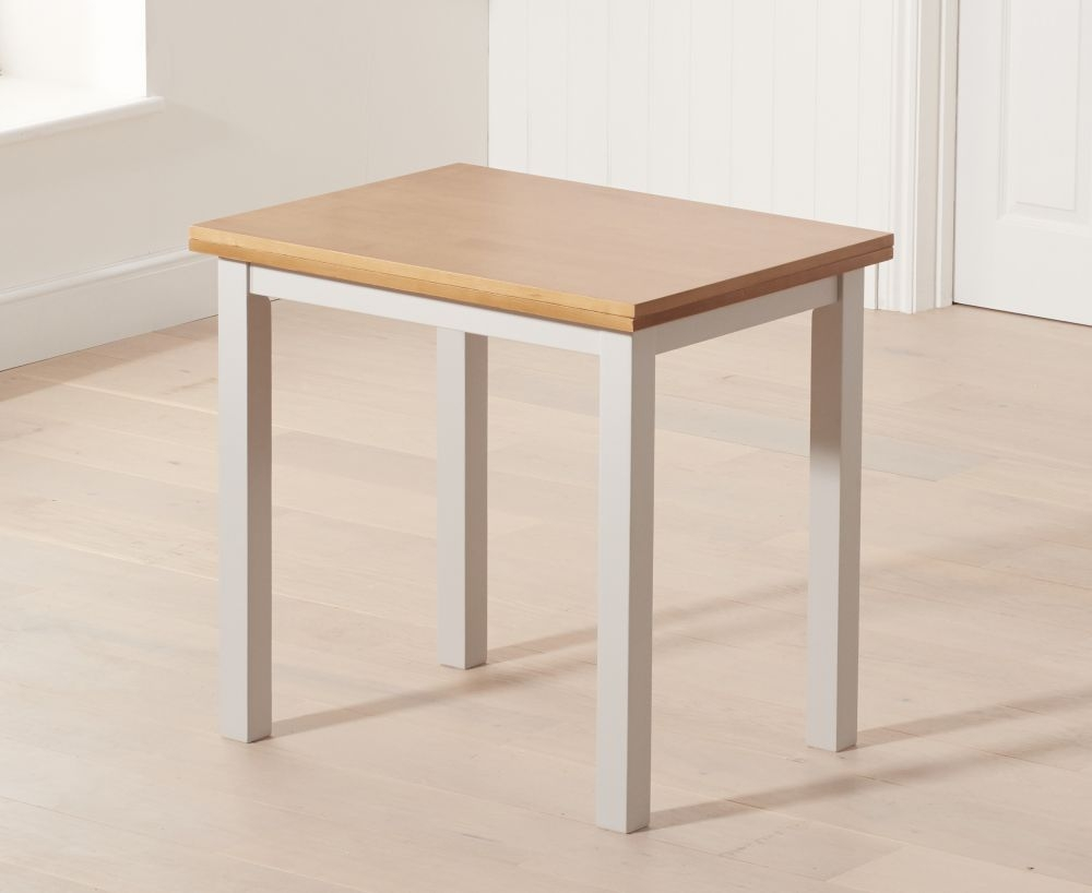 Product photograph showing Mark Harris Hove Extending Dining Table - Oak And Grey