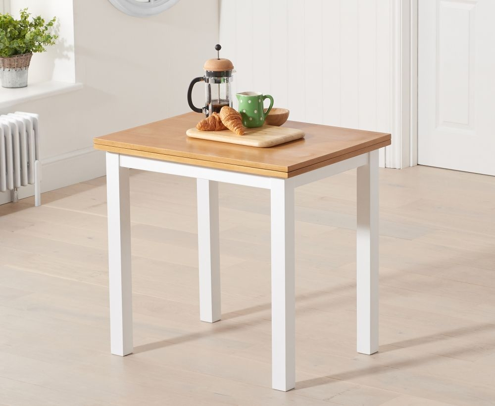 Mark Harris Hove Oak and White Rectangular Extending Dining Table