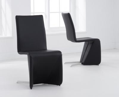 Mark Harris Isla Black Dining Chair (Pair)