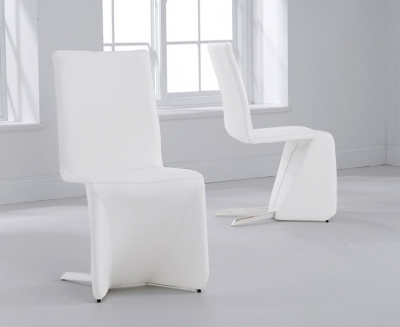 Mark Harris Isla White Dining Chair (Pair)
