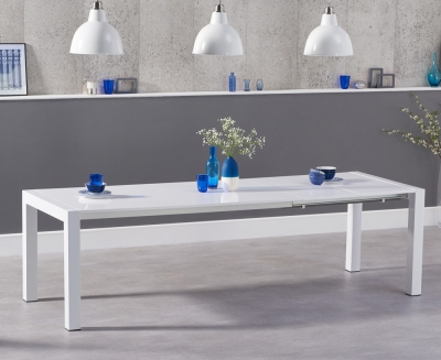 Mark Harris Jamie White High Gloss Extending Dining Table