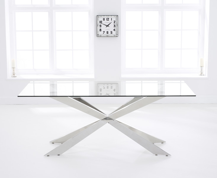 Mark Harris Jazz Glass Dining Table - 160cm Rectangular