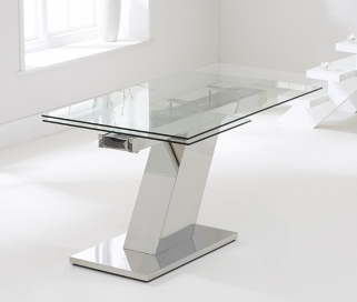 Mark Harris Lamont 140cm Glass Extending Dining Table