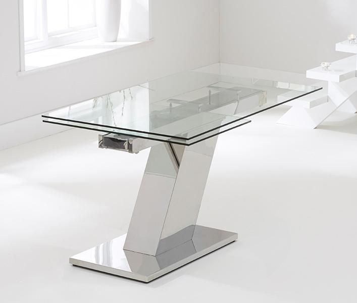 Mark Harris Lamont Glass Dining Table - 140cm Rectangular Extending