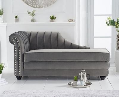 Mark Harris Laurn Grey Left Facing Chaise Sofa