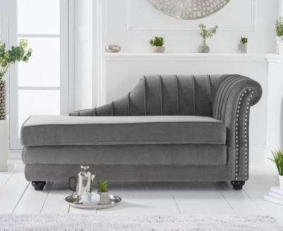 Mark Harris Laurn Grey Right Facing Chaise Sofa