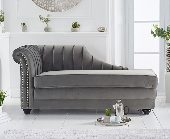 Mark Harris Laurn Grey Left Facing Chaise Sofa