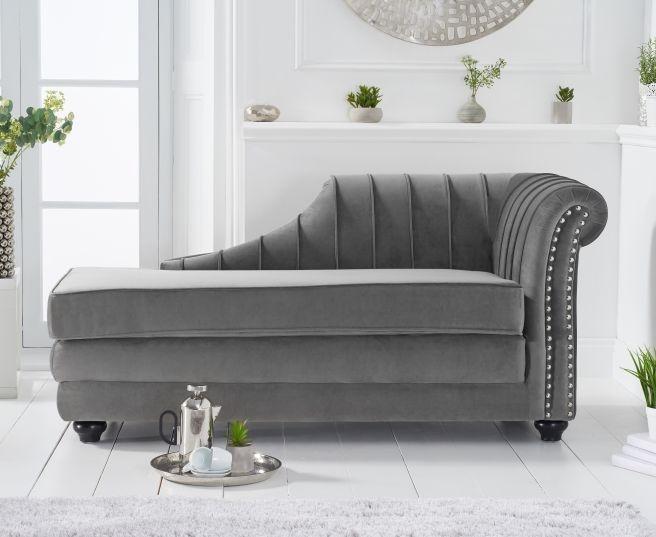 Mark Harris Laurn Grey Right Facing Chaise Sofa