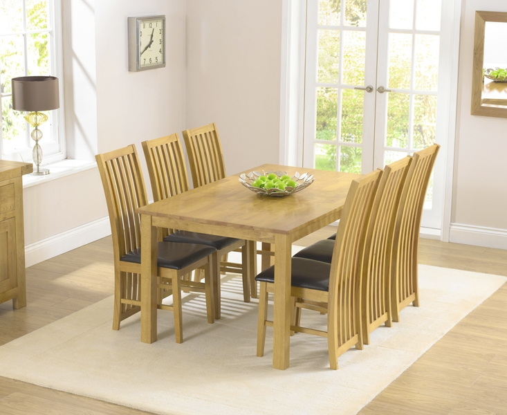 Mark Harris Long Island Solid Oak Dining Set - 150cm Rectangular with 4 Chairs