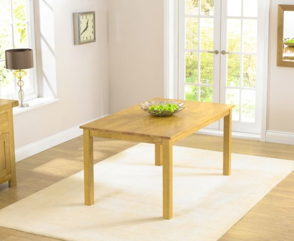 Mark Harris Long Island Solid Oak Dining Table - 150cm Rectangular