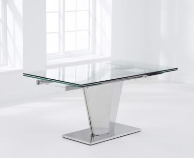 Mark Harris Lucille Glass Rectangular Extending Dining Table - 160cm-220cm