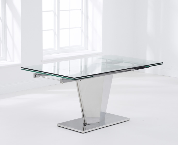 Mark Harris Lucille Glass Dining Table - 160cm Rectangular Extending