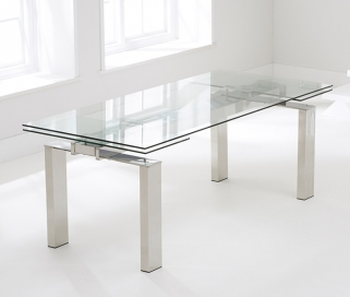 Mark Harris Lunetto 200cm Glass Extending Dining Table