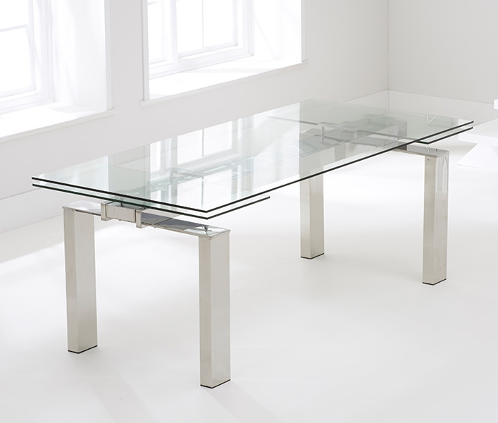 Mark Harris Lunetto Glass Dining Table - 200cm Rectangular Extending