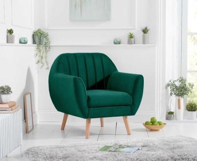 Mark Harris Luxor Green Velvet Armchair