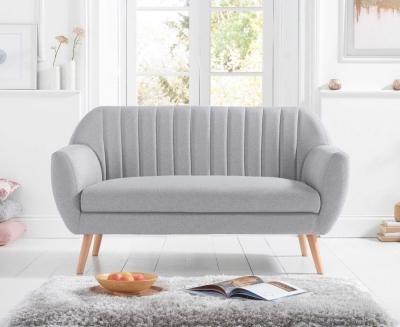 Mark Harris Luxor Grey Linen 2 Seater Sofa
