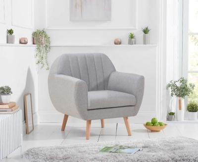 Mark Harris Luxor Grey Linen Armchair