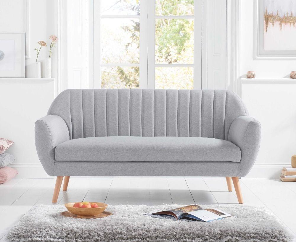 Mark Harris Luxor Grey Linen 3 Seater Sofa