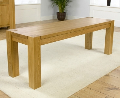 Mark Harris Madrid Solid Oak Barcelona Dining Bench